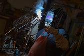 Metal worker standing in workshop — Stock Photo