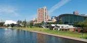 Adelaide from morphett street bridge — Stock Photo