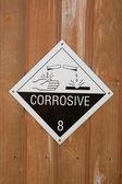Corrosive Warning Sign — Stock Photo