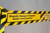 Illegal rubbish dumping — Stock Photo