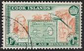 Cook Islands Postage stamp — Stock Photo