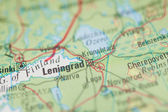 Leningrad Map — Stock Photo