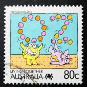Australische briefmarke — Stockfoto