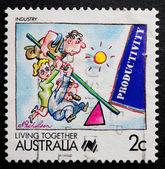 Australský poštovní známka — Stock fotografie