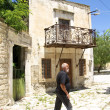 Old houses at the Town Square of the village Agioi Deka — Stock Photo #58145723