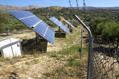 Renewable energy production on Crete. — Stock Photo