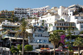 Greek Tavernas and restaurants in Agia Galini — Stock Photo