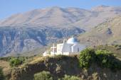 Greek church in the mountains — Stock Photo