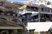 Greek Tavernas and restaurants in Agia Galini — Stock Photo