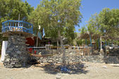 Taverna aan het strand — Stockfoto