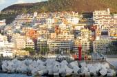 Los Cristianos seen from sea — 图库照片