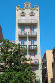 Art Nouveau House in the Gracia district of Barcelona — Stock Photo