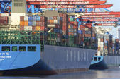 Hamburg is the most important harbor for international trade in Germany — Stock Photo
