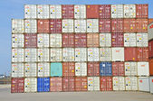 Контейнер в порту Гамбурга — Стоковое фото