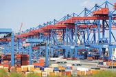 The Harbor of Hamburg Altenwerder — Stock Photo