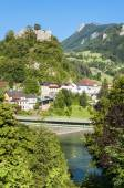 Castle in the village Losenstein, Austria — Stock Photo