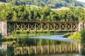Railroad Bridge in Upper Austria — Stok fotoğraf