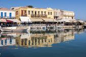 Old Venetian Harbor in Rethymno on Crete — Stock Photo