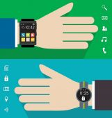 Wearable watches illustration — Stock Vector