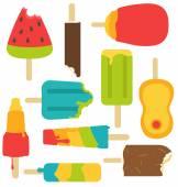 Isolated popsicles melting down bite — Vecteur