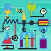 Laboratory experiment — Stock Vector