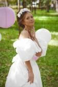 Sensual young bride — Stock Photo