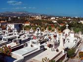 Orthodox cemetery in Crete — Stock Photo