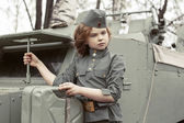 Little ussr soldier — Stock Photo