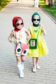 Funny little girls — Stock Photo