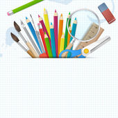 Back to school poster vector background with place for text — Vector de stock