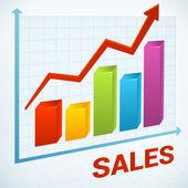 Tytuł Gazeli Biznesu sprzedaży wykres — Wektor stockowy