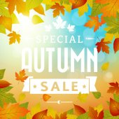 Special autumn sales business background — Wektor stockowy