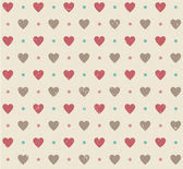 Valentines retro seamless hearts pattern — Stock Vector
