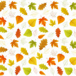 Autumn seamless vector leaf pattern — Stock Vector #54088219