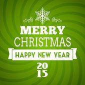Vector merry christmas 2015 typography — Stock Vector