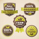 Set Farm organic eco label  — Vetorial Stock