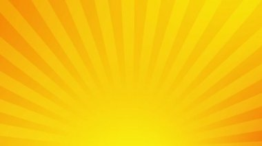 Rotate stripes yellow abstract background. — Stock Video