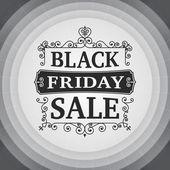 Vintage Black friday sale business poster — Stock Vector