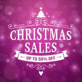 Christmas sales poster background — Vecteur