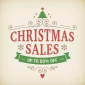 Vintage after christmas sales poster background — Vecteur