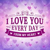Valentine and wedding greeting card background — Διανυσματικό Αρχείο
