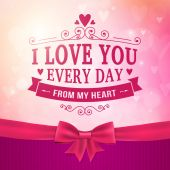 Valentine's Day and wedding romantic heart background — Vettoriale Stock