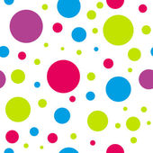 Kids seamless colorful circle pattern   — Stock Vector