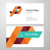 Modern letter P Business card template — Stock Vector