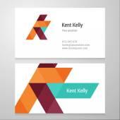 Modelo de cartão moderno letra K — Vetor de Stock