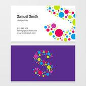 Modern letter S circle Business card template — Διανυσματικό Αρχείο