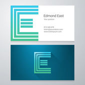 Letter E Business card template — Stock Vector