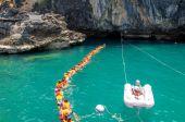Trang, Thailandia - 11 giugno: smeraldo grotta o morakot grotta giugno — Foto Stock