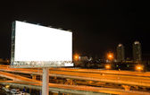 Blank billboard at twilight time for advertisement — Stock Photo