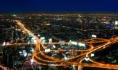 Top view of Expressway Highway in Bangkok Thailand — Stock Photo